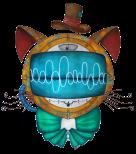 Shoupignon, le chat-robot Steampunk. Projet de mascotte pour Studinano.