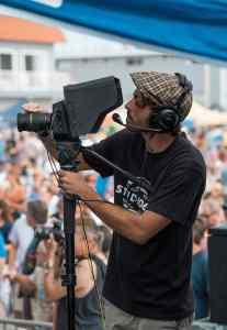 video film videoing looking camera