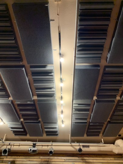 Checkerboard Acoustic Ceiling Panels