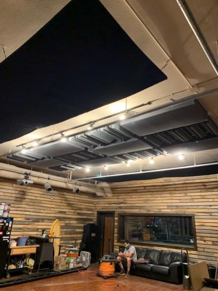 Previous ceiling acoustics