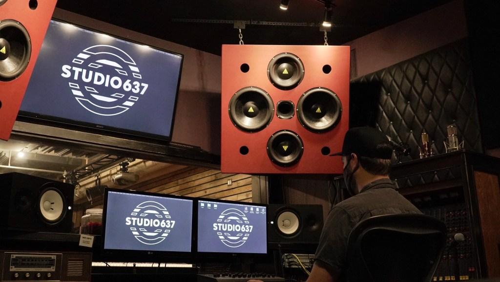 Studio 637 audio control room
