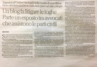Repubblica su esposto blog