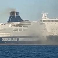 """Incendio sul traghetto Grimaldi """"Cruise Bonaria"""""""