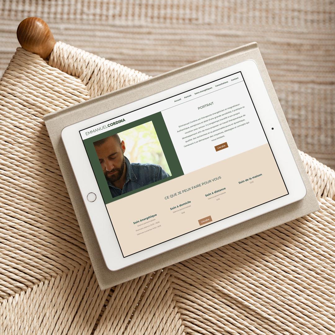 Création de site web pour thérapeute engagé