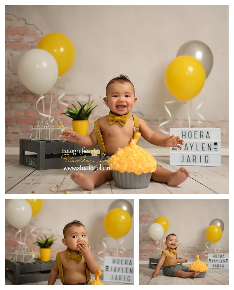 cakesmash jongen oker geel