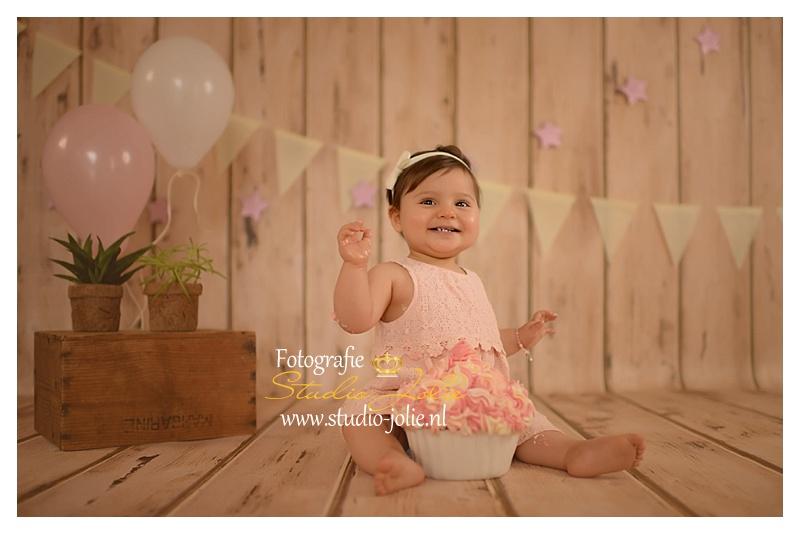 Wonderbaar fotoshoot 1 jaar-Fotografie studio jolie Cakesmash fotoshoot QE-58
