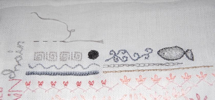 embroidery chain stitch borduren kettingsteek