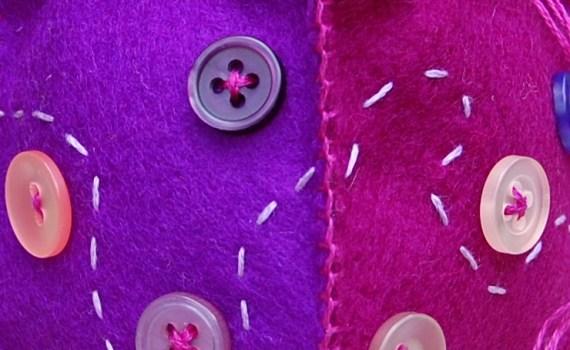 speldenkussen van vilt door studio paars