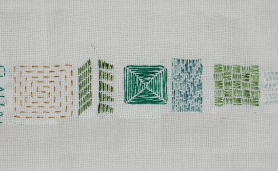 borduurles rijgsteek embroidery stitches running stitch