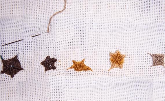 borduursteken spinsteek embroidery stitches whipped wheel