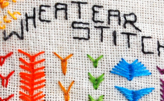 borduursteken korenaarsteek embroidery stitches wheatear stitch