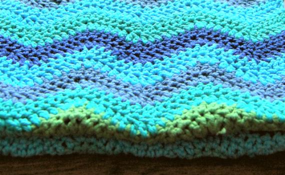 ripple scarf ripple sjaal gehaakt