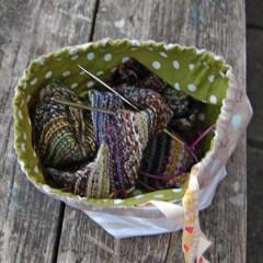 Studio Paars project bag tas tasje breitas breitasje projecttas projectttasje woodland bos vos vosjes paddenstoel fox mushroom toadstool knitting crochet embroidery breien haken boorduren haaktas haaktasje