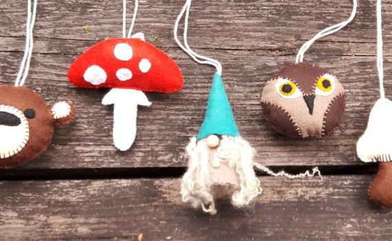 Studio Paars vilten sprookjes mobile voor babyshower / crafty babyshower