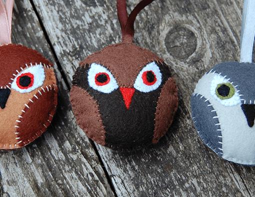 owl diy kit uil diy pakket patroon uil vilt pdf studio paars pattern owl felt diy kit pakket pakketje