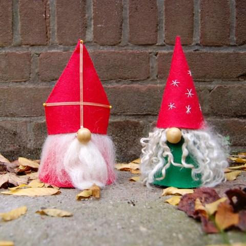 Studio Paars - Sinterklaas en Kerstkabouter van vilt