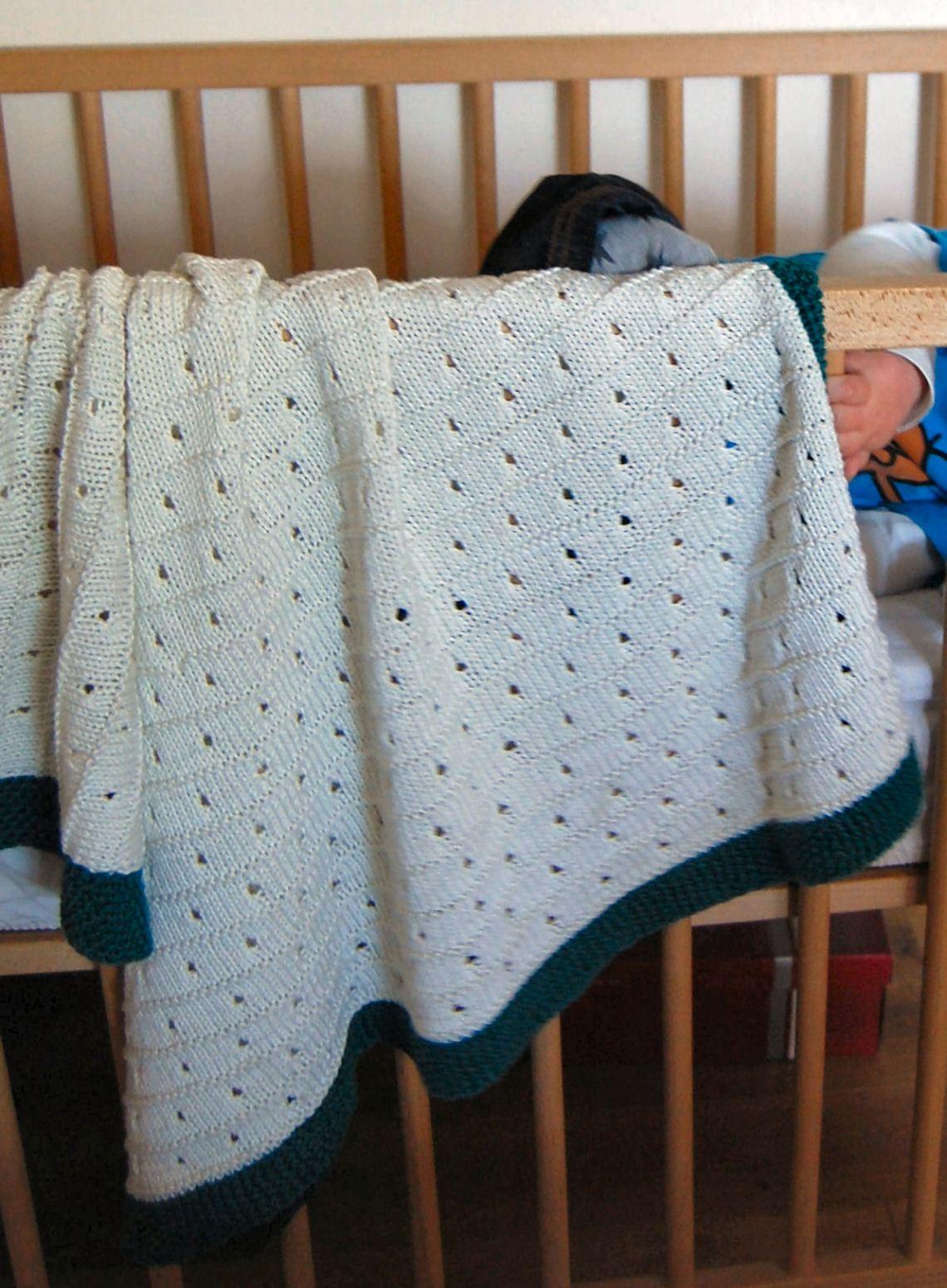 babydeken gebreid door studio paars