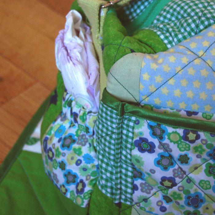 patchwork verschoningstas naaien door studio paars