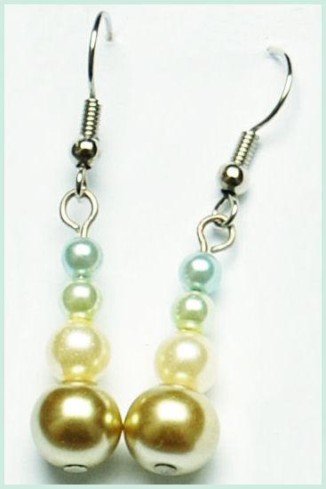 oorbellen glasparels geel groen door studio paars
