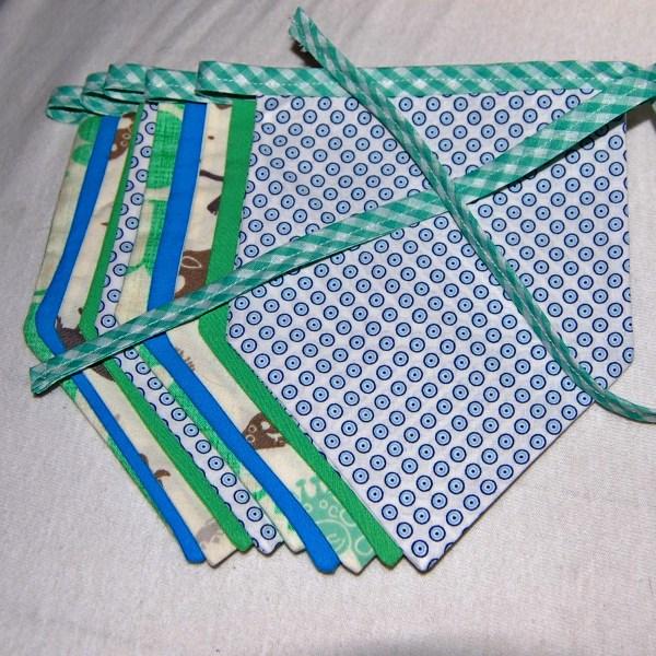 vlaggenslinger groen blauw door studio paars