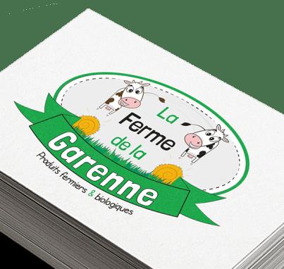 Logo et charte graphique d'une exploitation agricole