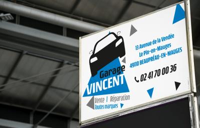 Panneau Dibond Garage Vincent