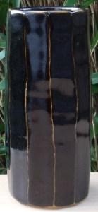 Poh Chap Yeap cut-sided stoneware vase