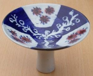 Marianne de Trey post 1980 porcelain stemmed dish.