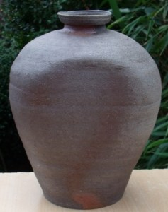 Nancy Fuller - Anagama-fired vase made and fired in Scotland. Height: 23.1 cm (9.1 inches). Dimensions: 18.0 by 16.0 cm (7.1 by 6.3 inches). Price: £240
