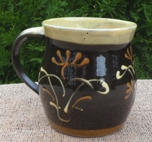Paul Barron slipware tankard c 1949 with impressed B seal under the handle. The height is 10.7 cm (4.2 inches). £55