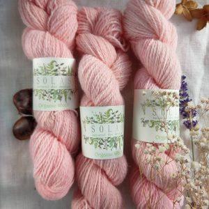 natural dye yarn pink
