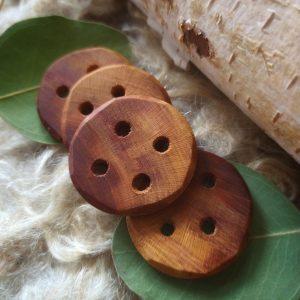 prunus wooden buttons 39mm
