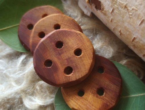 prunus houten knopen 39mm