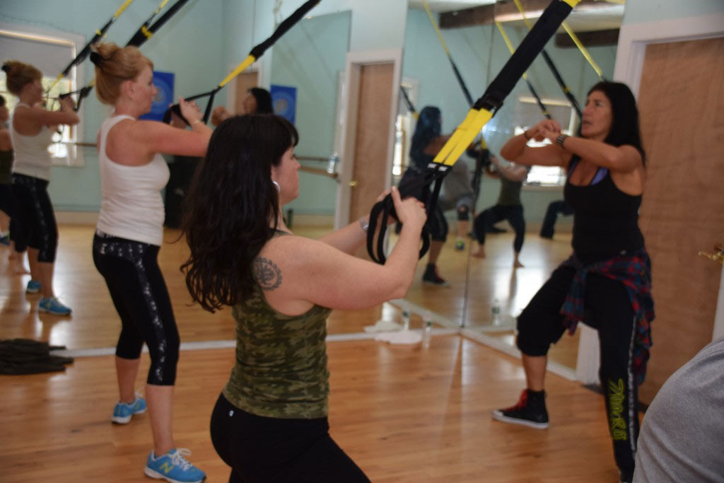 Group fitness class Stowe