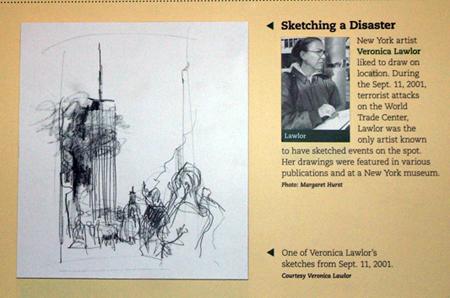 Newseum Drawing   Veronica Lawlor