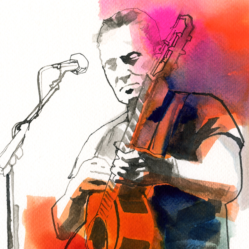Bruce Springsteen Illustration
