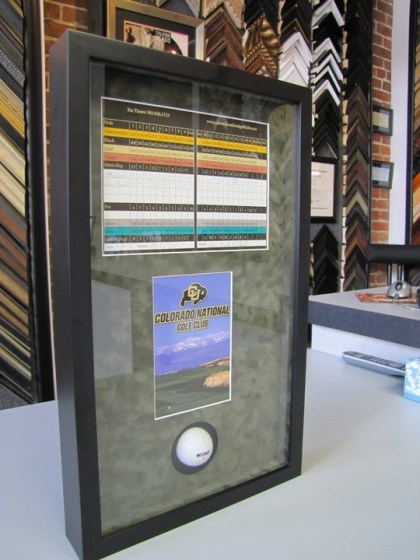 Custom Framed Golf Shadowbox