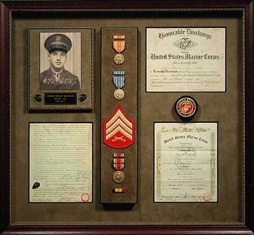 soldier custom framed memorobilia