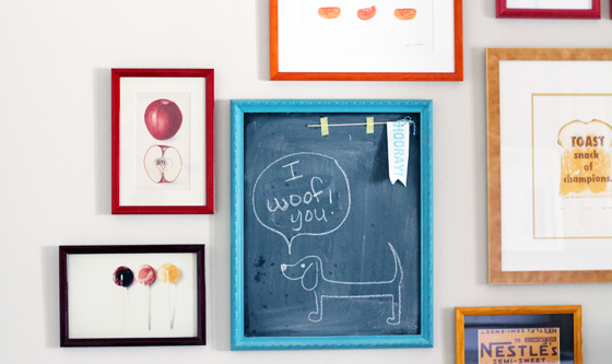 Studio 3 Custom Framing // Chalkboard Frame