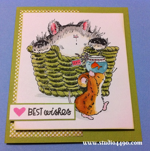 Best Wishes Materials used: Stamps - It's Your Day! 1462K (Penny Black), Simply Said, Summer Groves (Paper Smooches); Cardstock - American Crafts, Knights; Distress Ink, Distress Markers and 6x6 Paper Pad - Serendipity (Basic Grey).