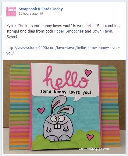 Scrapbook & Cards Today - Facebook Mention (07 March, 2014)