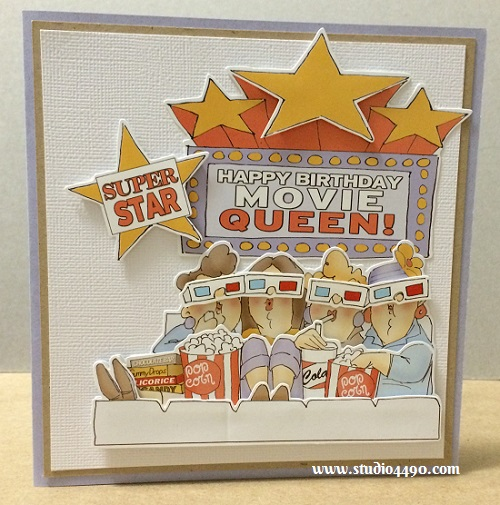 Movie Queen Materials Used:  Finmark Decoupage Card Kit (Finmark); Cardstock - Various.
