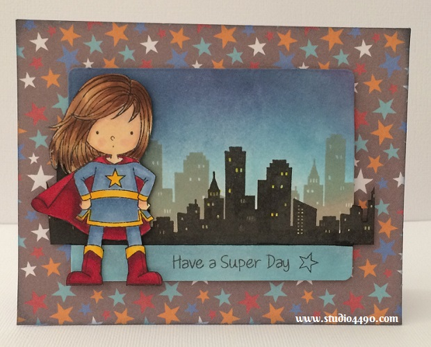 "Have a Super Day Materials used:  Stamps - Birdie Brown You're Awesome (My Favourite Things); Dies  - Die-Namics Blueprints 5 (My Favourite Things); Designer Paper - Party with Amy Locurto ""Boy"" (Pebbles Inc.); Distress Inks and Copic Markers."