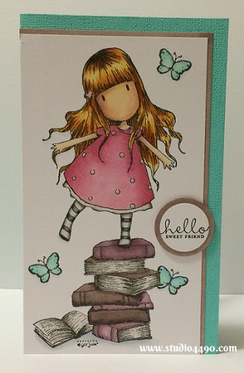 Hello Sweet Friend Materials used: Stamps - New Heights (Gorjuss/DoCrafts), Six-Sided Sampler (Stampin' Up!); Copic Markers; Cardstock - Doodlebug Design, Knights Smooth and Wink of Stella.