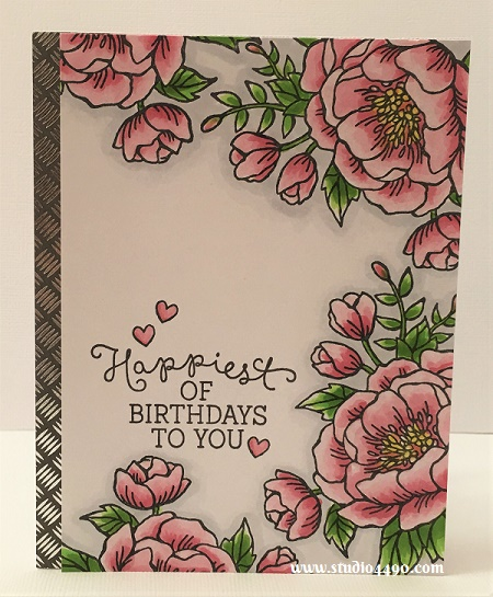 Happiest of Birthdays to You Materials used: Stamps - Birthday Blooms (Stampin' Up!), Lunar Animals (Mama Elephant); Designer Paper - Garage Days (KaiserCraft); Copic Markers and Wink of Stella.