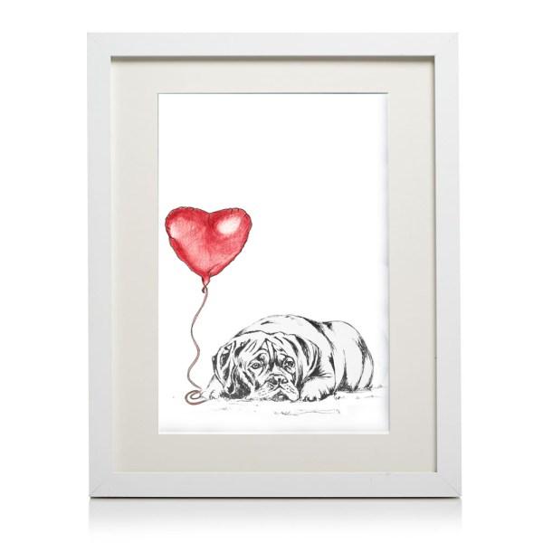 A4 framed dogue de bordeaux