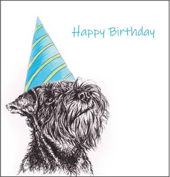 schnauzer birthday blue