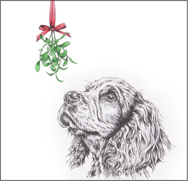 spaniel mistletoe lighter