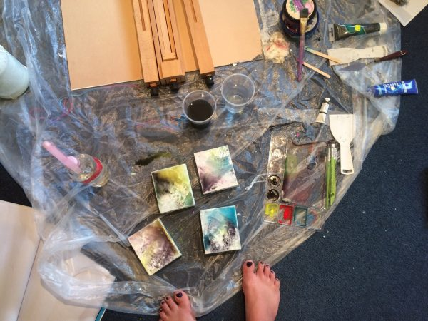 Action Painting - Painting Without A Brush blog post. The blog of Rachel Weaver, Freelance Artist and Designer Geraldton.
