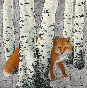 Fox Amongst the Birches by Marc Alexander